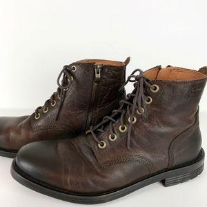 Clarks |  Men's Leather Lace-up Side Zipper Boots